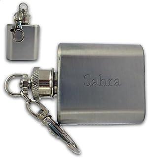 Shopzeus Porte-clé flasque engravé avec un texte: Sahra (Noms/Prénoms)