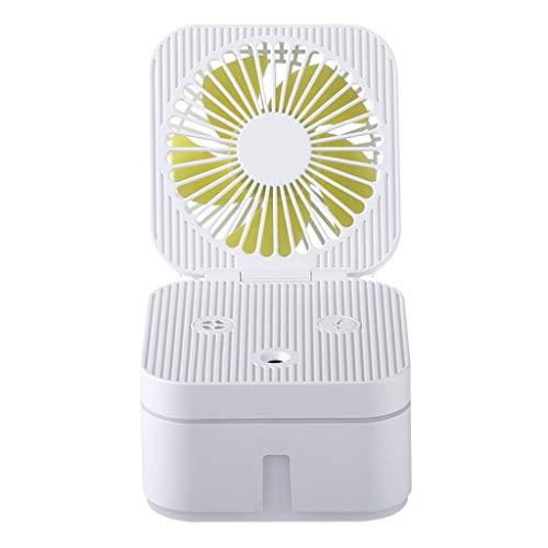 Other-sey Mini Fan Spray Bottle for Battery Operated Humidifier with Atmosphere Lamp Office Portable Air Purification Humidifier Fan Mini Fan Portable Fan