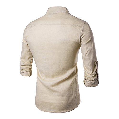 Uomo Manica Da Cachi A Camicia Veravant Lunga qwIxzY4En5