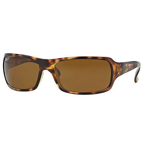 Ray-Ban RB4075 - HAVANA Frame CRYSTAL BROWN POLARIZED Lenses 61mm - Wrap Sunglasses Around Designer