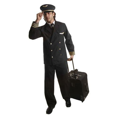 Dress Up America Adults Fashion Pilot Jacket - (Ready For Take Off Pilot Costumes)