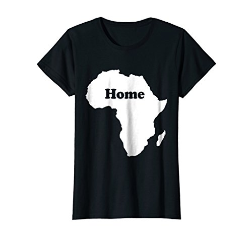 Womens Africa Home Map Africa Shape Funny T-Shirt Large Black by Africa Funny Gift Tees