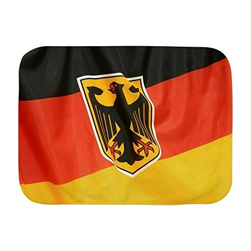 Royal Lion Baby Blanket White German Flag Waving ()