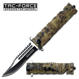 Tac Force TF-710JC Assisted Opening Folding Knife 5-Inch Closed, Outdoor Stuffs