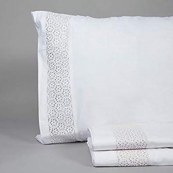 DON ALGODON Juego de Sabanas Vintage Panel Blanco: Amazon.es: Ropa ...