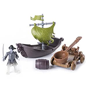 Pirates of the Caribbean Salazar's Revenge Ghost Pirate Hunter Boast, Catapult Set