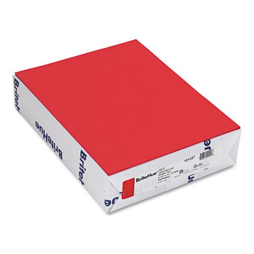 Red Laser Inkjet Paper - Mohawk : Brite-Hue Color Copy/Laser/Inkjet Paper, Red, 24lb, Letter, 500 Sheets -:- Sold as 2 Packs of - 500 - / - Total of 1000 Each