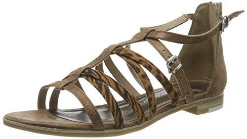 MARCO TOZZI 2-2-28104-24, Sandali con Cinturino alla Caviglia Donna, Gold Bronce Comb 938, 37 EU
