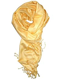 Dabung - Women's Luxurious Pashmina Scarf in Beautiful Solid Colors -LightYellow