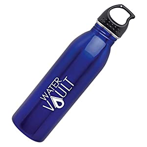 WaterVault Classic Single Wall Stainless Steel Water Bottle with Leak Proof Loop Cap, Bpa-Free Sport Canteen, 24oz