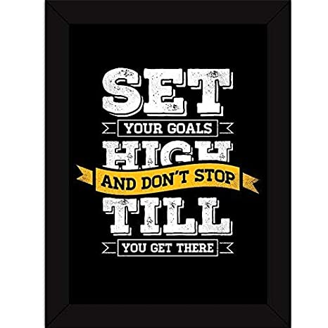 Fatmug Set High Goals Inspirational Quote Poster Synthetic 32 99