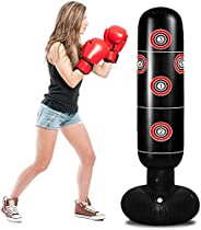 Inflatable Punching Bag, Adults Standing Boxing Bag, Punching Bag Freestanding Boxing Bagfor Kids, Punching Ba