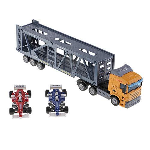 B Blesiya 1:64 コンテナトラック模型 輸送車モデル カーモデル