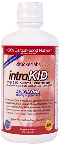 (DRUCKER LABS IntraKID - Organic, Liquid, Trace Minerals, Multivitamin and Multi-Nutritional Dietary Supplement For Children  (32 Ounce / 946 Milliliter, Raspberry Flavor))