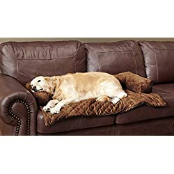 PetSafe Solvit Bolstered Pet Furniture Protector, Large, Waterproof Couch and Chair Cover for Dogs and Cats