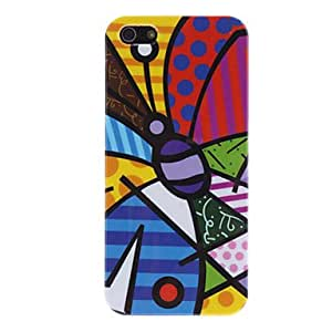SHOUJIKE Butterfly with Multicolored Wings Hard Case for iPhone 5/5S