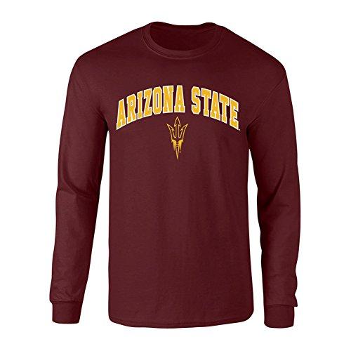 (Elite Fan Shop Arizona State Sun Devils Long Sleeve Tshirt Arch Maroon - M)
