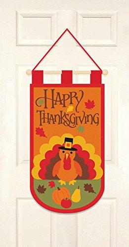 Happy Thanksgiving Turkey Scene Felt Door (Cheap Classroom Decorating Ideas)
