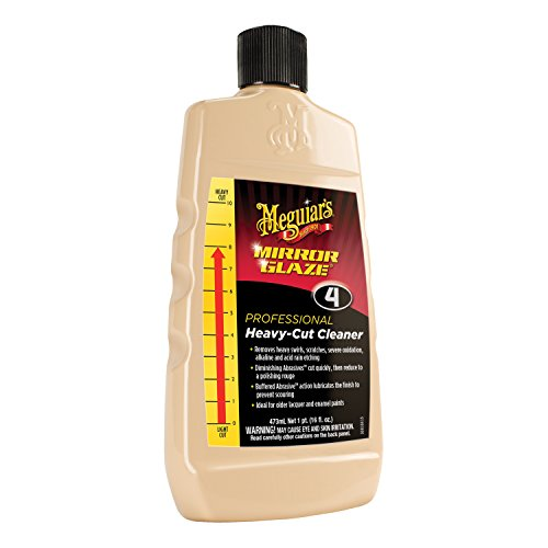 Heavy Cut Compound - Meguiar's M0416 Mirror Glaze Heavy-Cut Cleaner, 16 Fluid Ounces
