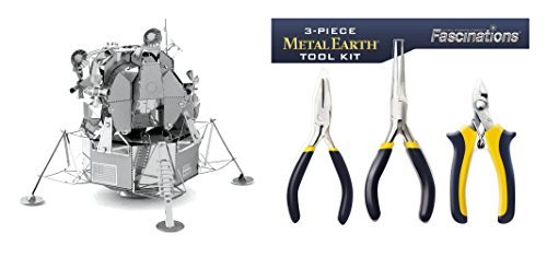 Fascinations Metal Earth Apollo Lunar Module 3D Metal Model Kit And 3   Piece Fascinations Metal Earth 3D Model Tool Kit Bundled By Maven Gifts