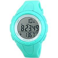 topcabin los niños al aire última intervensión reloj electrónico reloj deportivo Paso Gauge Reloj impermeable Color Azul Claro