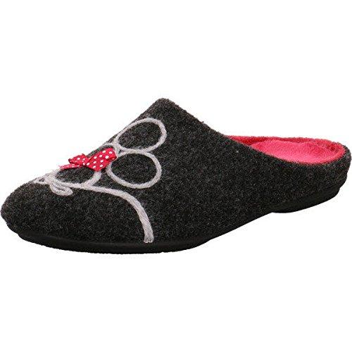 Garzón 5515.279 - Zapatillas de estar por casa para mujer Antracita-Fucsi