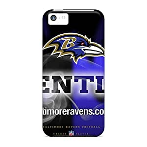 5c Scratch-proof Protection Case Cover For Iphone/ Hot Baltimore Ravens Phone Case