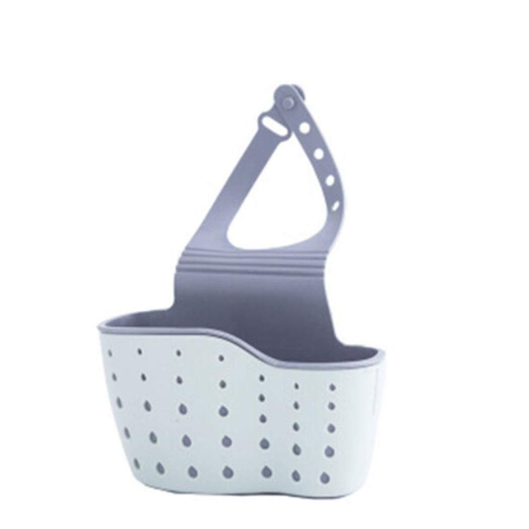 neudas Kitchen Sink Shelf Soap Sponge Drain Rack Holder Drying Rack Holders (Blue)