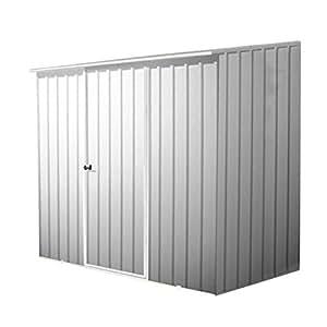 7 x 5 plata esmeralda Metal cobertizo y#x2666; Sin ventanas y#x2666; Puerta y#x2666; Pent indipc y#x2666; Jardín cobertizos y#x2666;