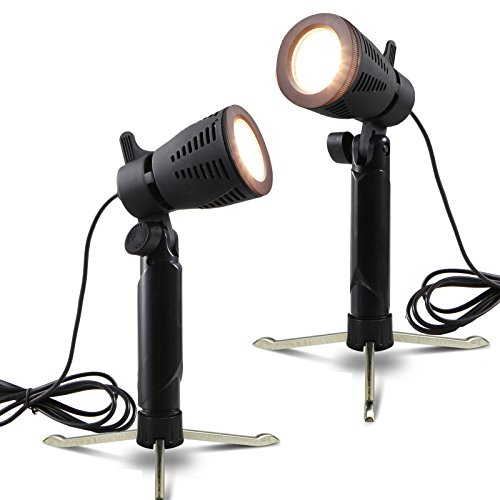 Selens Table Top Lighting kit Studio Continuous Portable Led Lamp with Stand for Video and Product Photography, Pack of 2 (Warm color) by Selens