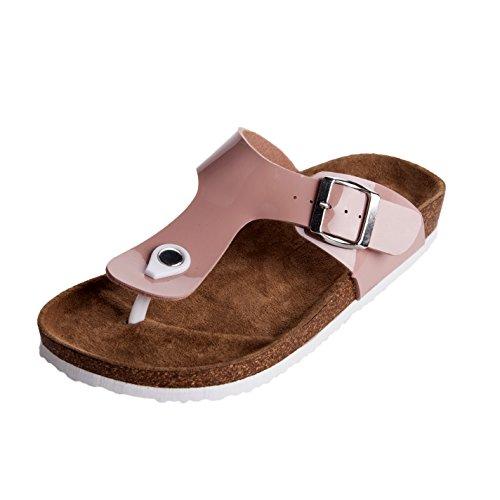 (WTW Women's Gizeh Birko-Flor Thong Sandals Size 5 Pink)