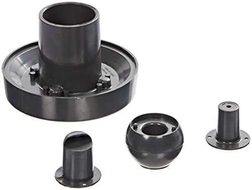 Pentair 08429-0100 Complete Insider Wall Inlet Fitting for Concrete Pools, 1 1/2 Inch Slip, Black
