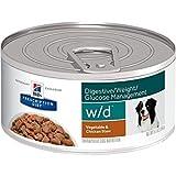 Hills Prescription Diet w/d Digestive Weight Glucose Management Vegetable & Chicken Stew Canned Dog Food 24/5.5 oz