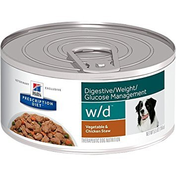 Hills Prescription Diet w/d Digestive Weight Glucose Management Vegetable & Chicken Stew Canned Dog Food 24/5.5 oz by Hills Pet Nutrition