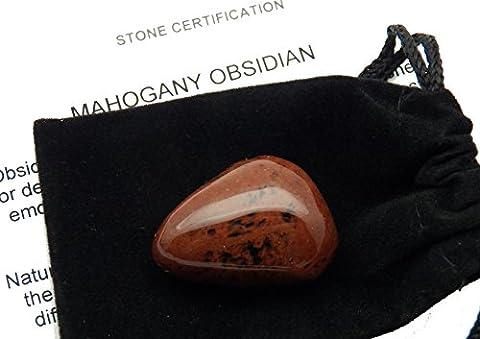 Fundamental Rockhound Products: Mahogany Obsidian Tumbled Stone from Utah USA (Extra Large)