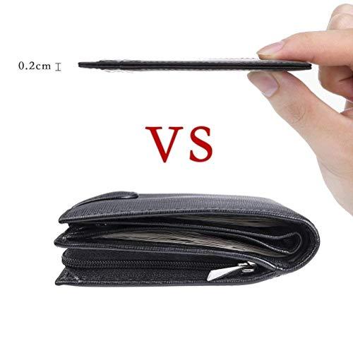 Cadeau Rfid Etui Flintronic 11 De monnaie Coffret Noir Zip Portefeuille Porte En Crédit Carte Porte Cuir Blocage wgZZ1qIX4x