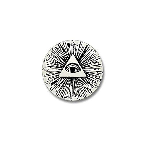 CafePress – Illuminati Pyramid Eye Mini Button – 1″ Round Mini Button
