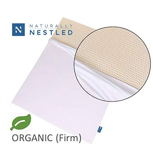 Certified Organic 100% Natural Latex Mattress Topper - Firm - 3 Inch - Twin Size - Organic Cover Included.