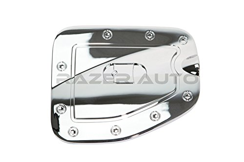 Razer Auto Chrome Gas Door Cover for 05-14 Toyota Tacoma Long Truck Bed Only ()