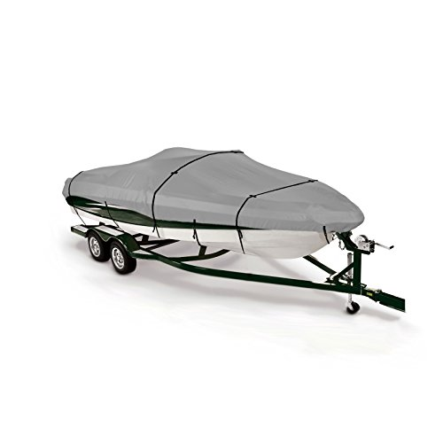 (SavvyCraft V-hull Fishing, Bass,Tri-hull Bowrider Trailerable Boat Cover Fits 14'-16'L beam width to 90