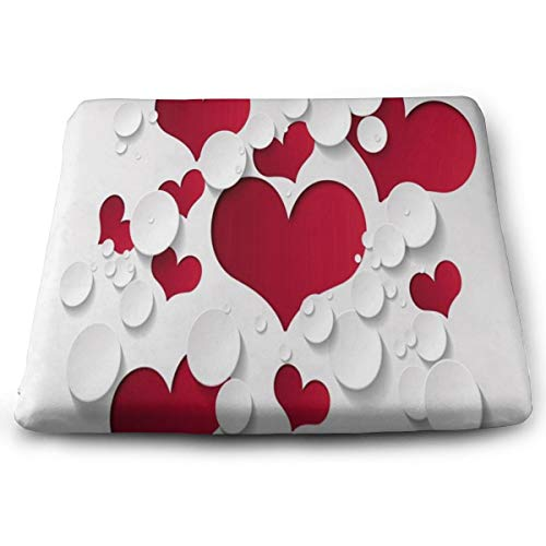 Ladninag Seat Cushion Love Heart Shaped Chair Cushion Offices Butt Chair Pads for Cars/Outdoors/Indoor/Kitchens/Wheelchairs
