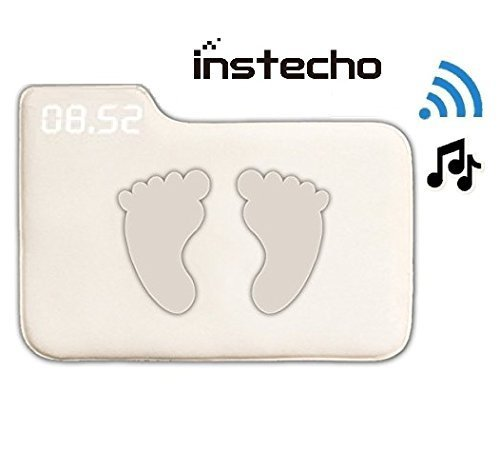 Alarm Clock for Heavy Sleepers,Instecho Rug Carpet Alarm Clock – Digital Display,Pressure Sensitive Alarm Clock with The Softest Touch for Modern Home, Kids, Teens, Girls and Guys (Cream)