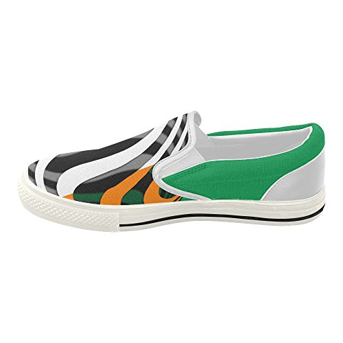 Interestprint Klassisk Flagg Ireland Kvinners Slip-on Canvas Sko