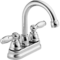 Peerless Claymore 2-Handle Centerset Bathroom Faucet with Pop-Up Drain Assembly, Chrome P299685LF