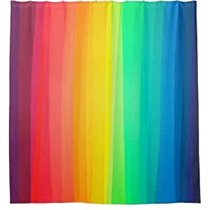 colored stripes background shower curtain 36 x 72 inch home kitchen. Black Bedroom Furniture Sets. Home Design Ideas