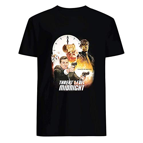 USA 80s TEE Threat Level Midnight Shirt Black]()