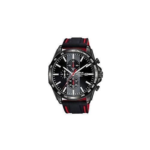 Sport Man Mens Analog Quartz Watch with Silicone Bracelet - Lorus RM387EX9