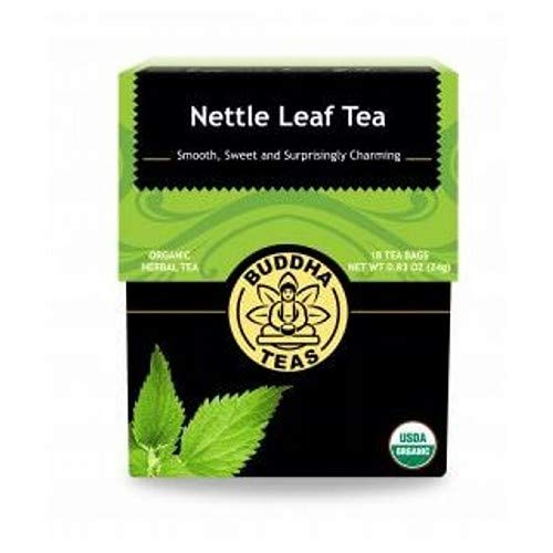 Organic Nettle Leaf Tea - Kosher, Caffeine-Free, GMO-Free - 18 Bleach-Free Tea Bags ()