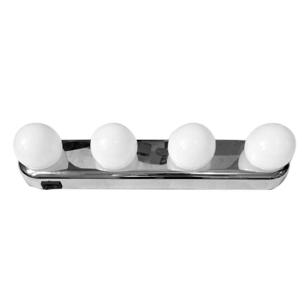 Badzimmer Spiegel Ritioner LED Kosmetikspiegel Lichter bilden super helle 4 LED Birnen Tragbare Kosmetikspiegel Licht Ausr/üstung batteriebetrieben f/ür Schminktisch