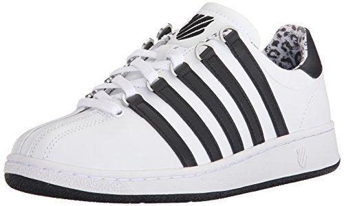 K-Swiss Women's Classic VN Casual Shoe, White/Black Leopard, 7 M US